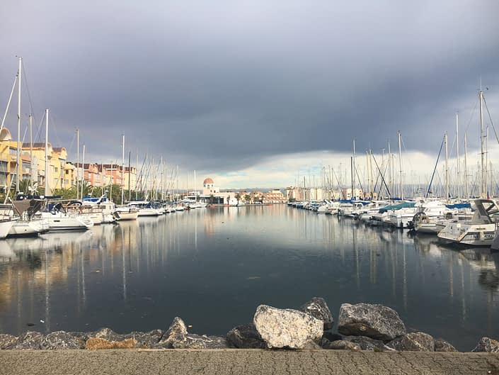 Gruissan is full of harbour and boats, witch is always a beautiful combination