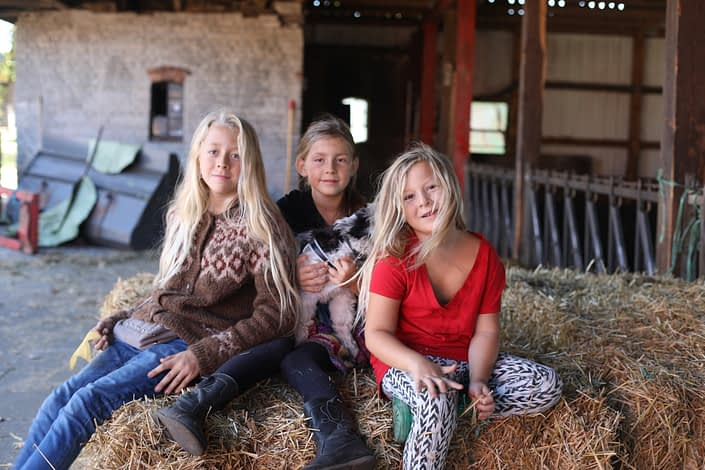 Farmkids for a day, lovely to play in the hay